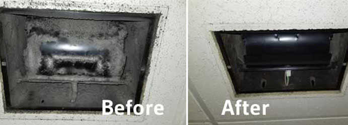 Duct Heating Cleaning Before & After Dunluce